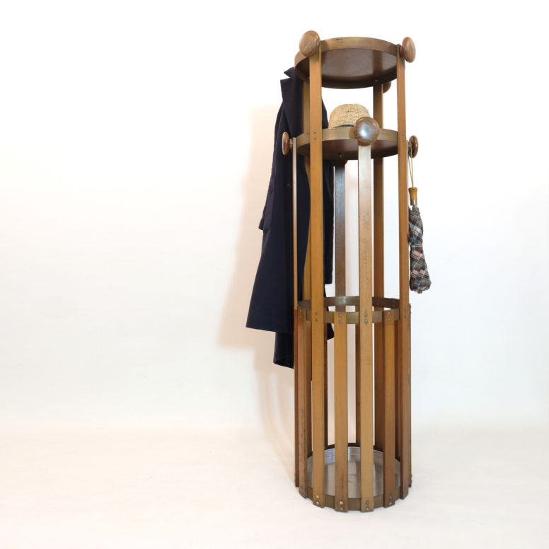 Large Italian coat and umbrella rack from the sixties.