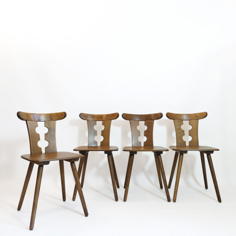 Set of four chairs from the sixties.