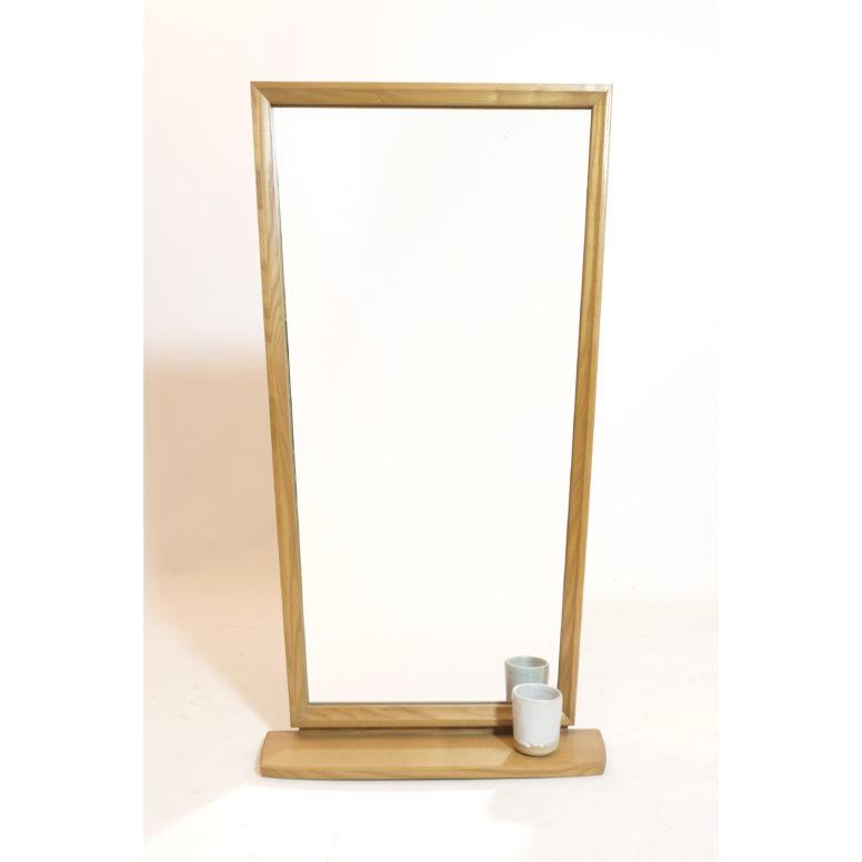 Grand miroir avec tablette des années 60, 101x53 cm.