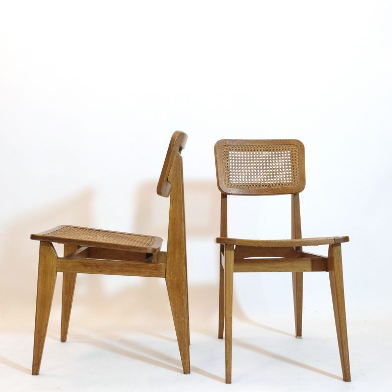 Marcel Gascoi, pair of CD chairs, ARHEC, 1950s.