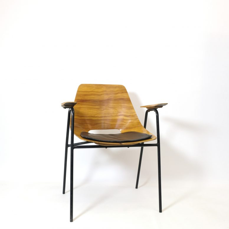 Pierre Guariche, fauteuil bridge, Steiner, 1950s.