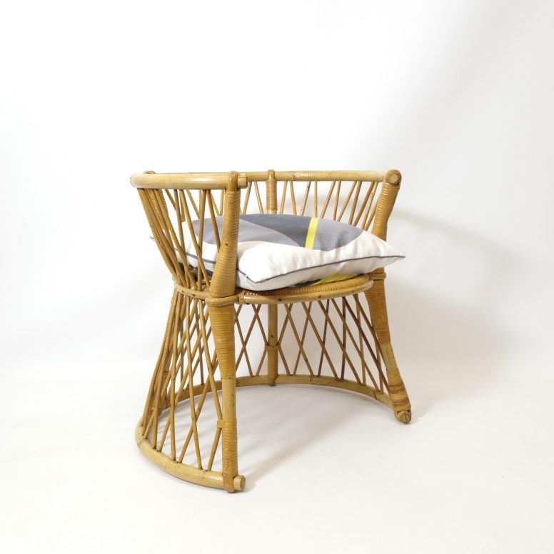 French rattan child's chair, 1960-1970.