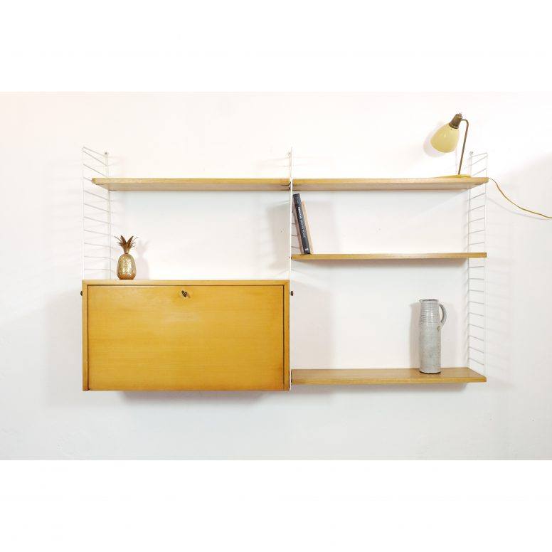 Kajsa & Nisse Strinning, système d'étagères modulables String.