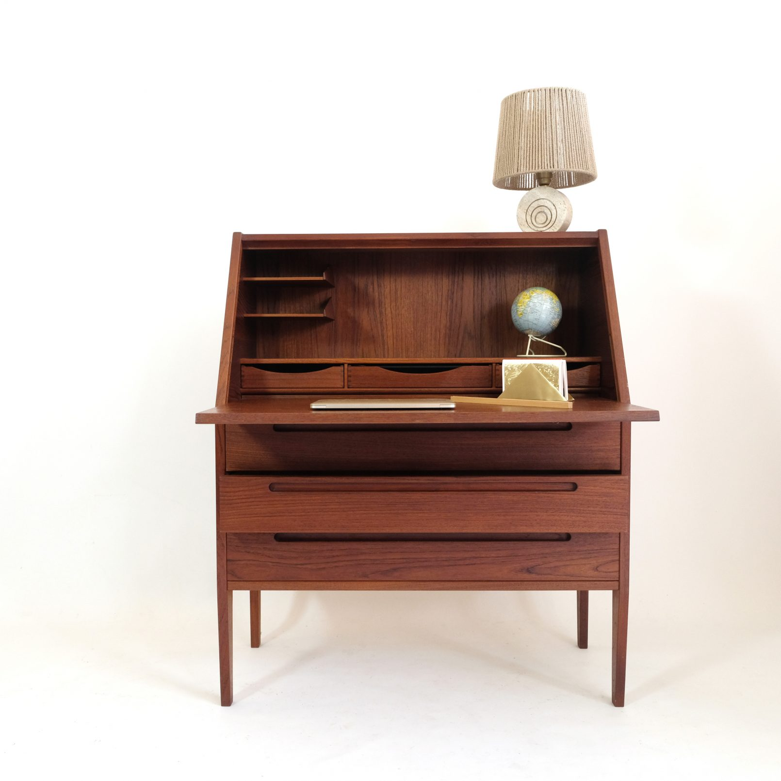 Nils Jonsson, teak secretaire from the sixties, to be restored.