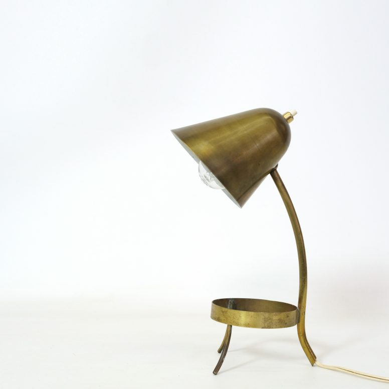 French brass lamp from the fifties.