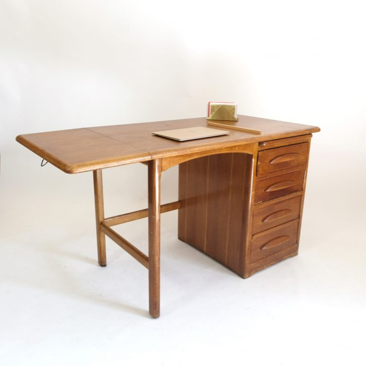 Desk with an extending leaf from the fifties.