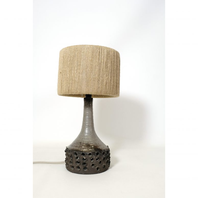 Erik Glud, stoneware lamp from the 1960s-1970s.